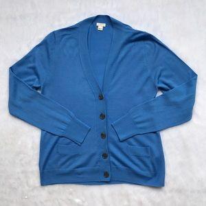 J. Crew Factory Blue Cardigan
